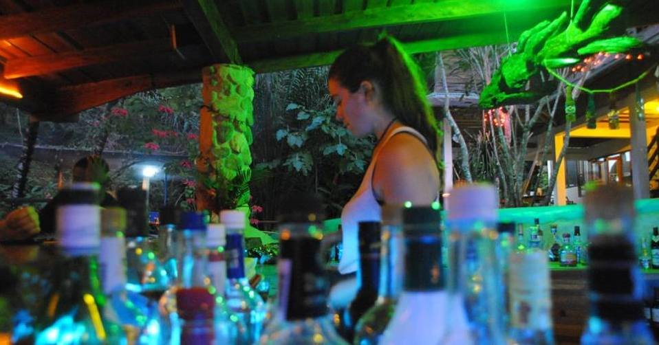 drinking booze in the Jungle
