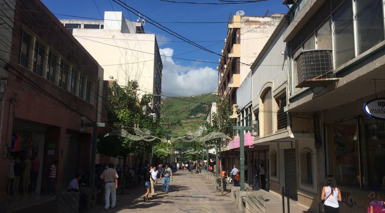 Paseo Liquidambar Pedestrian Street in downtown Tegucigalpa.