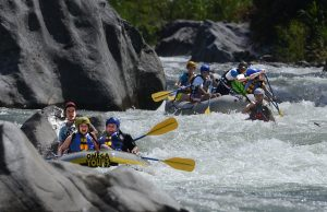 White water rafting in Honduras