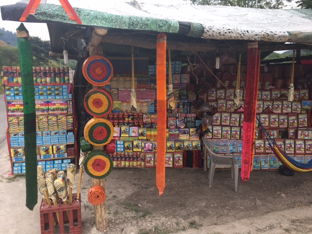 Honduras firework road side stall