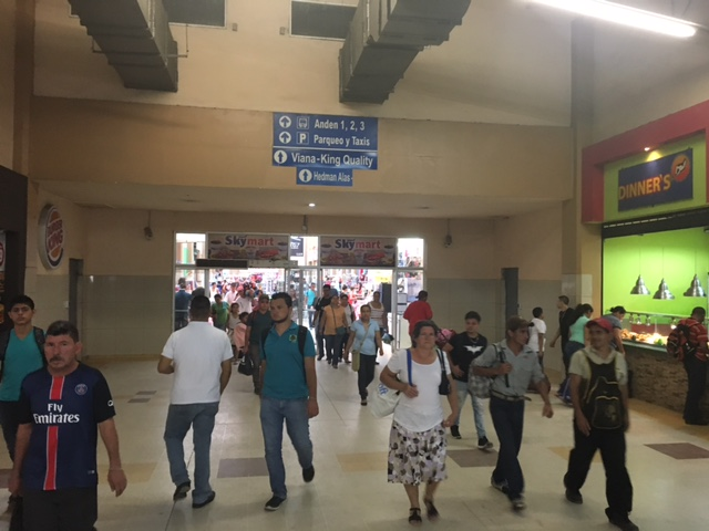 The San Pedro Sula bus station