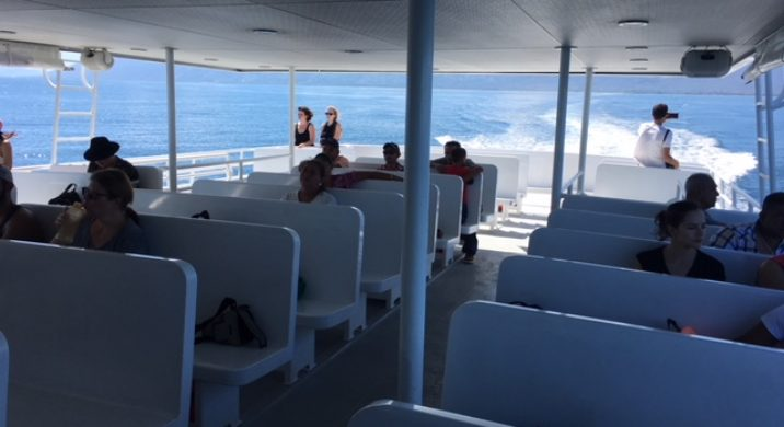 Traveling to Utila on the Ferry