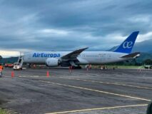 Air Europa dreamliner at La Ceiba, Honduras