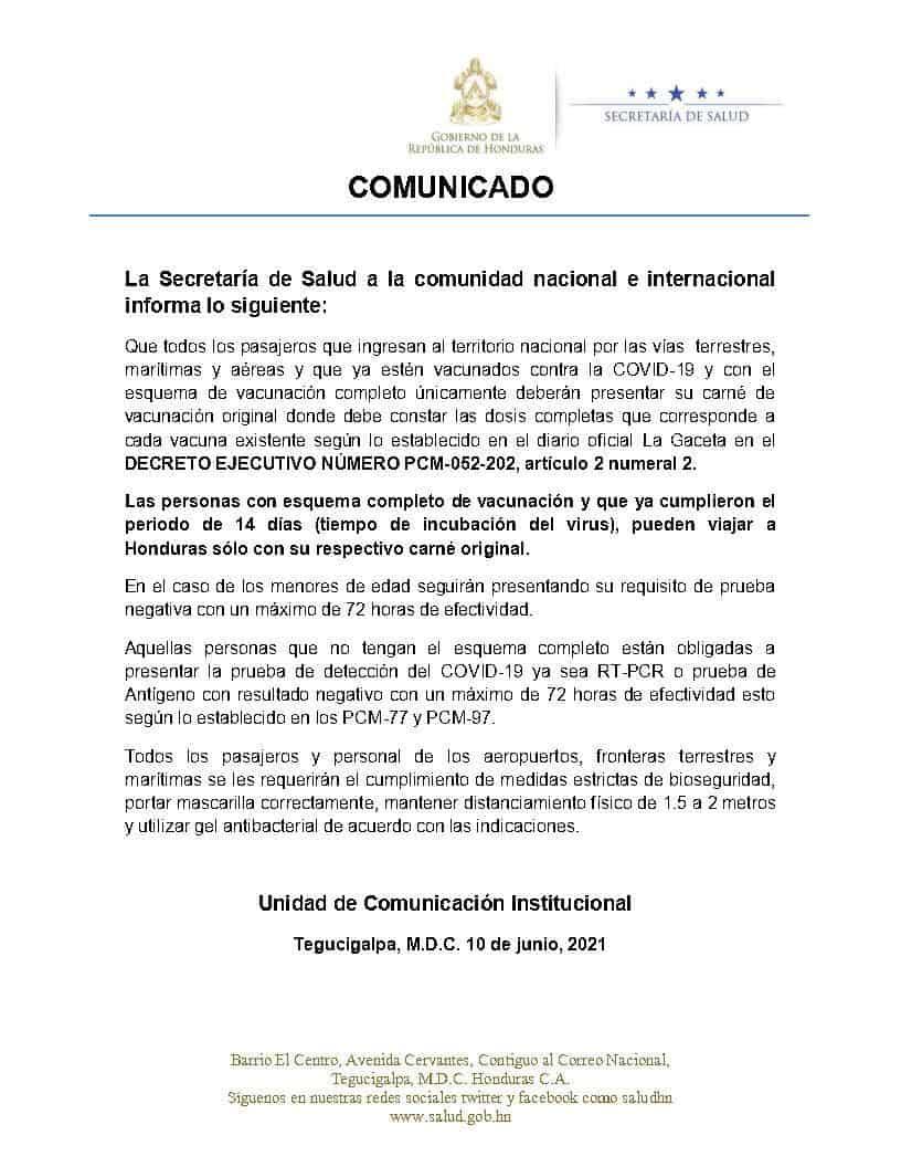 Honduras immigration requirements