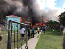 Fire in Bonacca Town